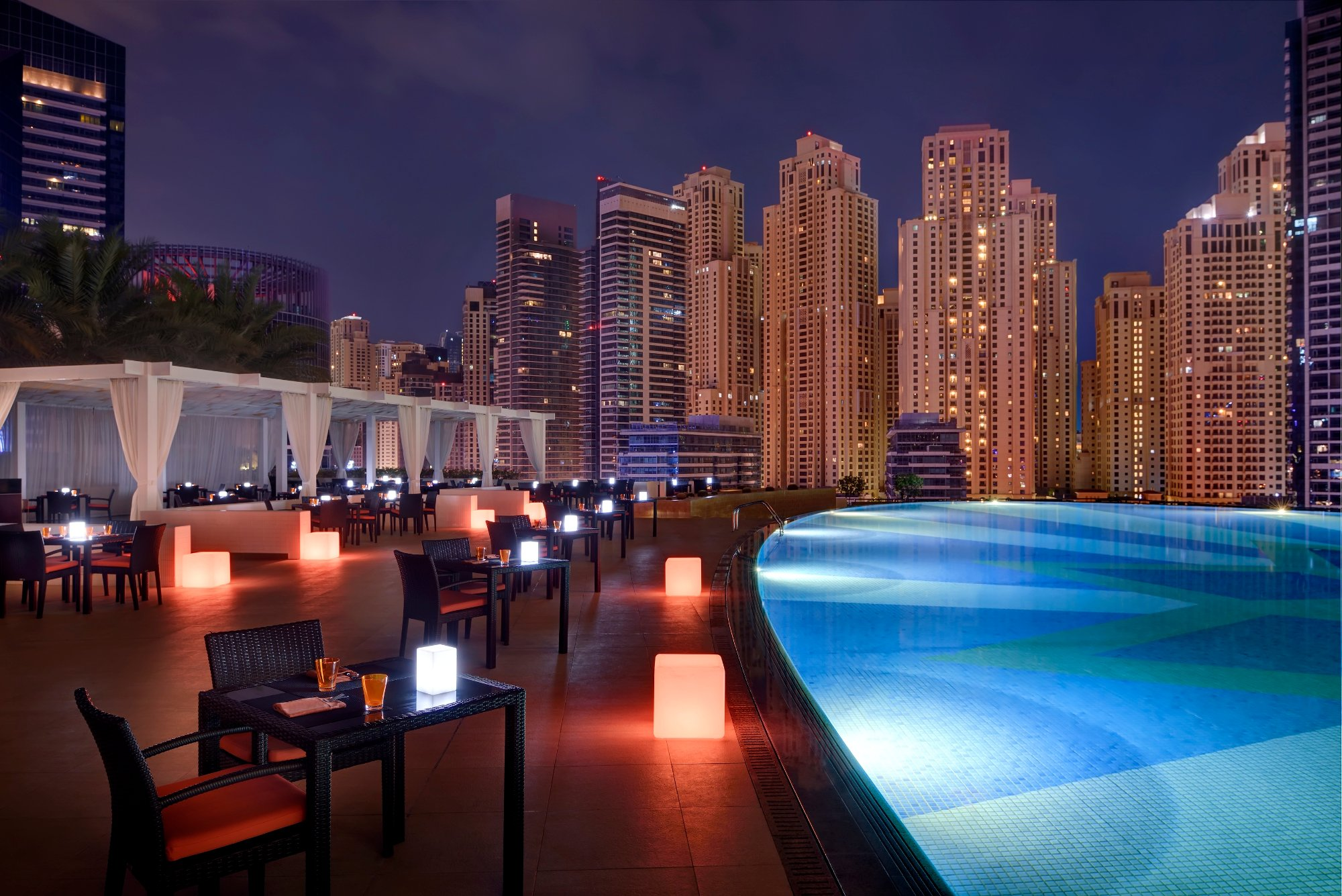 Shades, pool-side restaurant at Address Dubai Marina