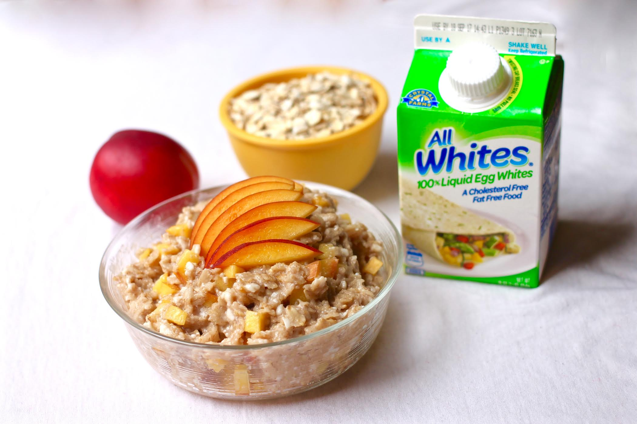 Egg White Oatmeal with Nectarines