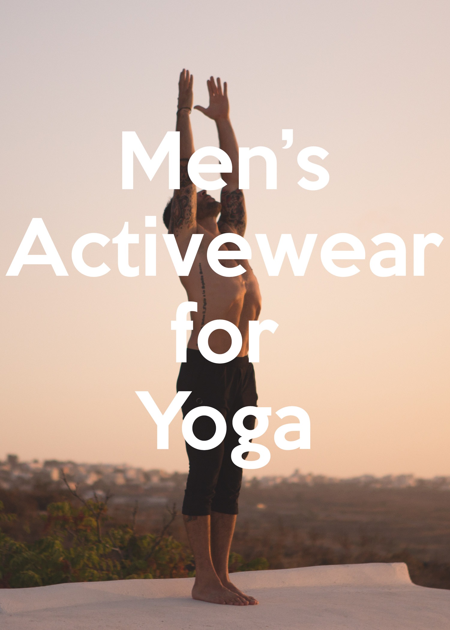 Men's activewear for yoga