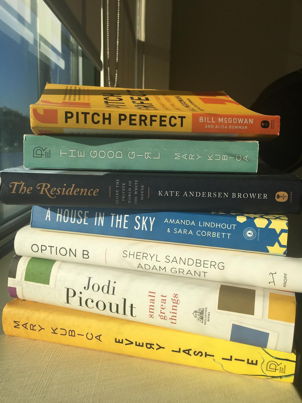 The last seven books I read
