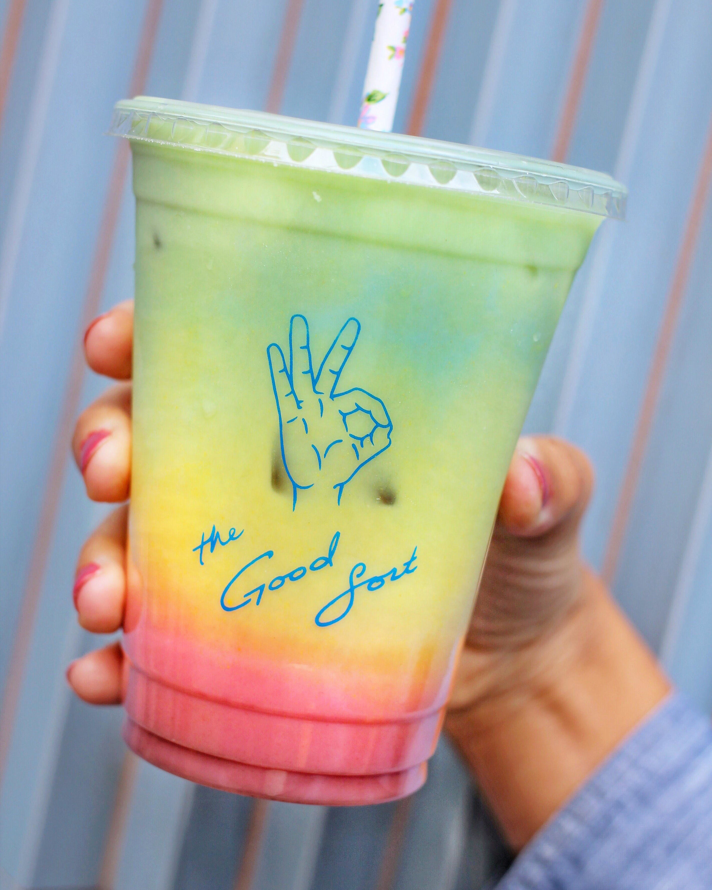 The Iced Rainbow Latte from The Good Sort