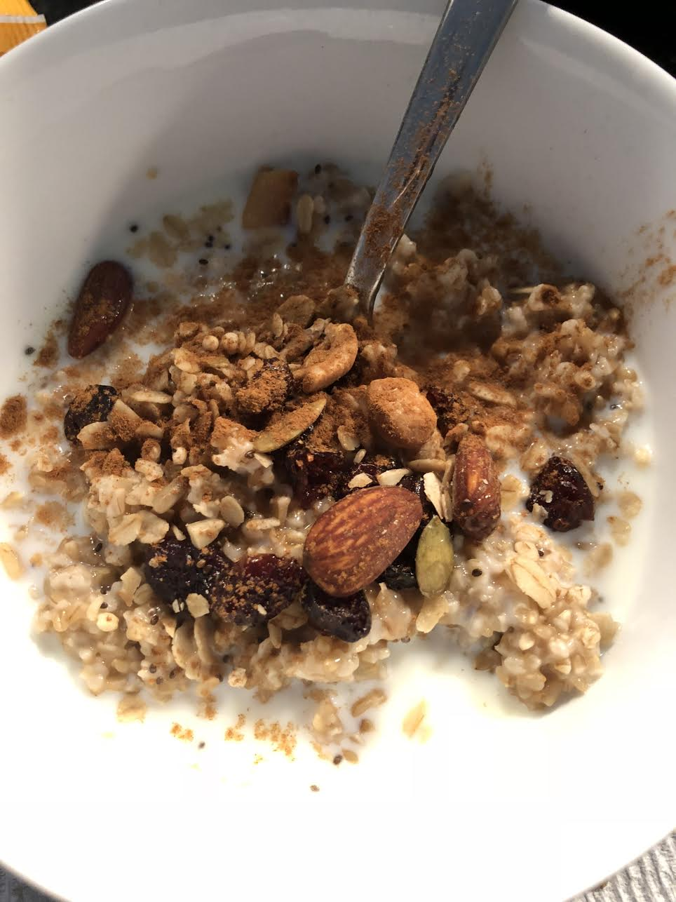 Oatmeal - Time: 12 minutes