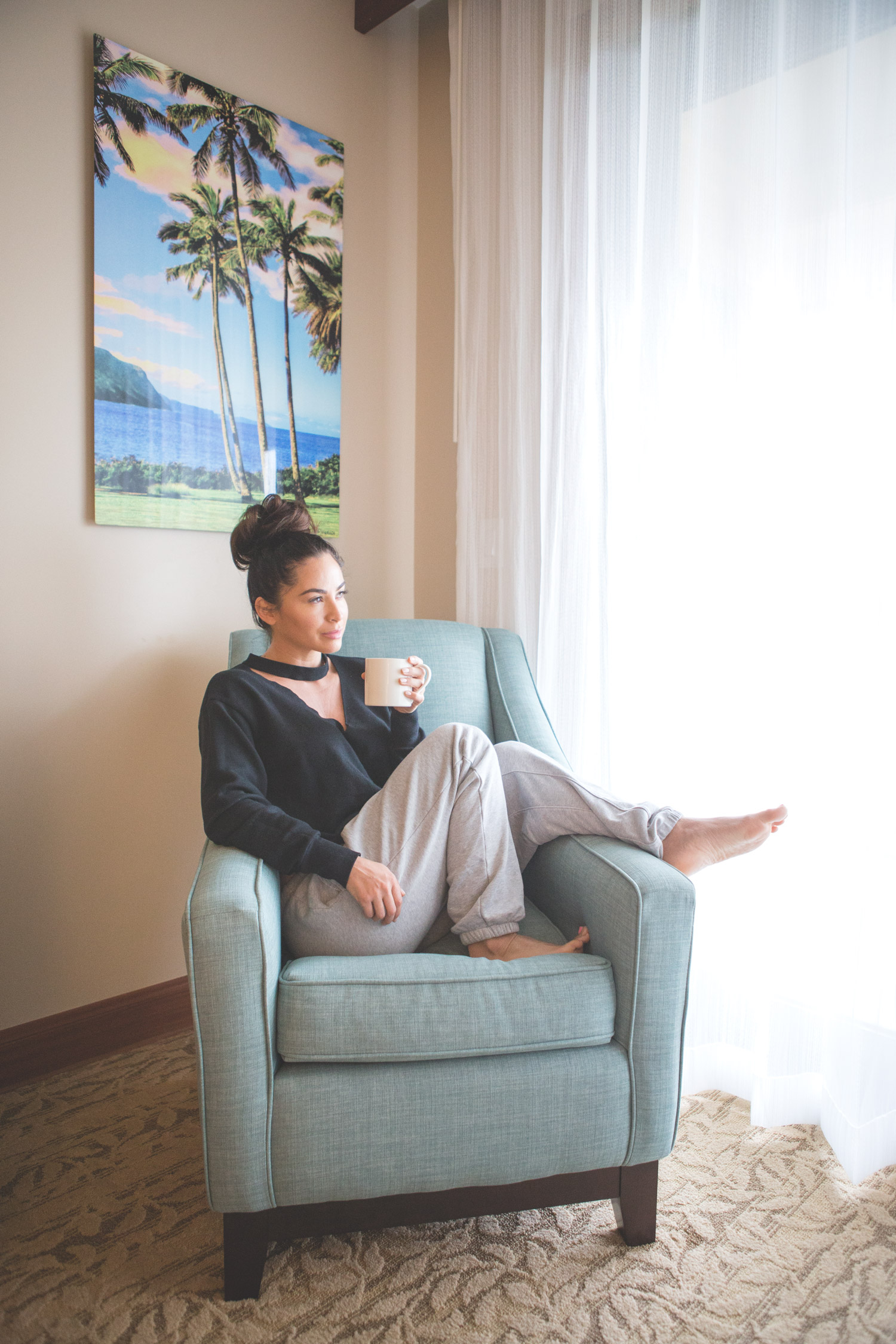 Sitting area in my bedroom at  Koloa Landing Resort