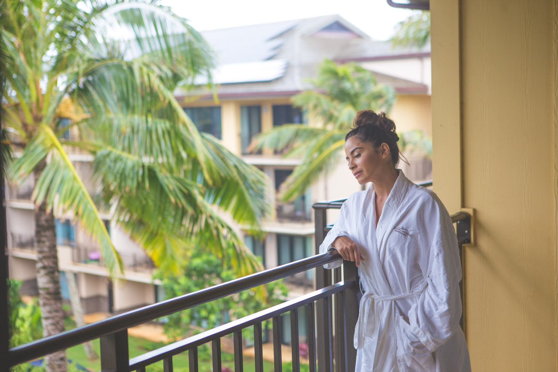 Patio at Koloa Landing Resort