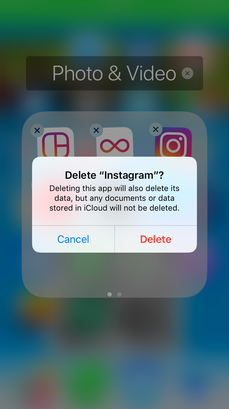 I'm not going to lie, this pop up scared me. What was I doing? Was I going to lose all my pictures, my memories, my life? No, you idiot, it was just saying that it is all still there.