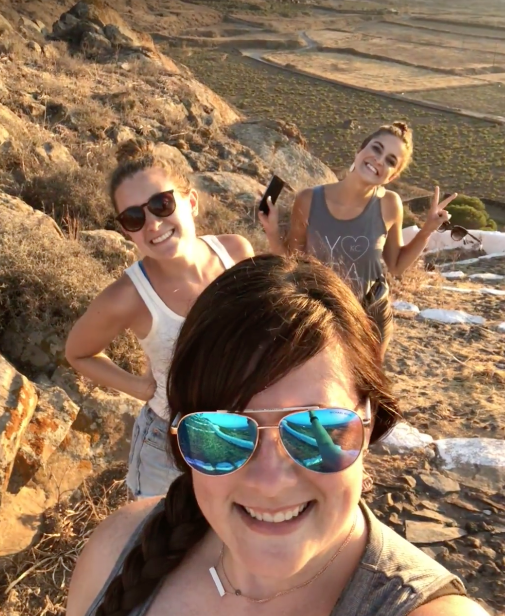 Some of our group on a hike