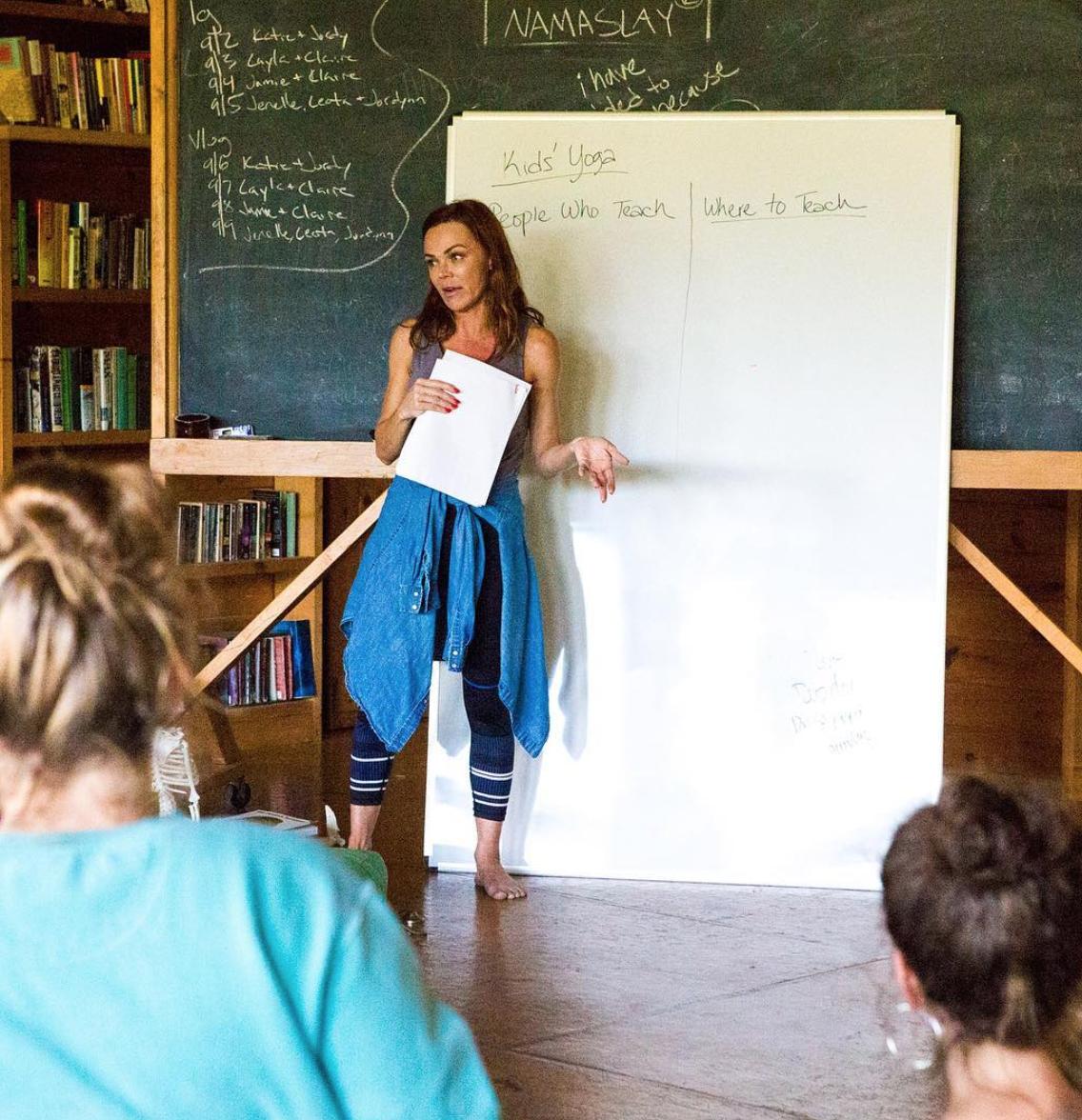 Dana teaching Yoga for Kids