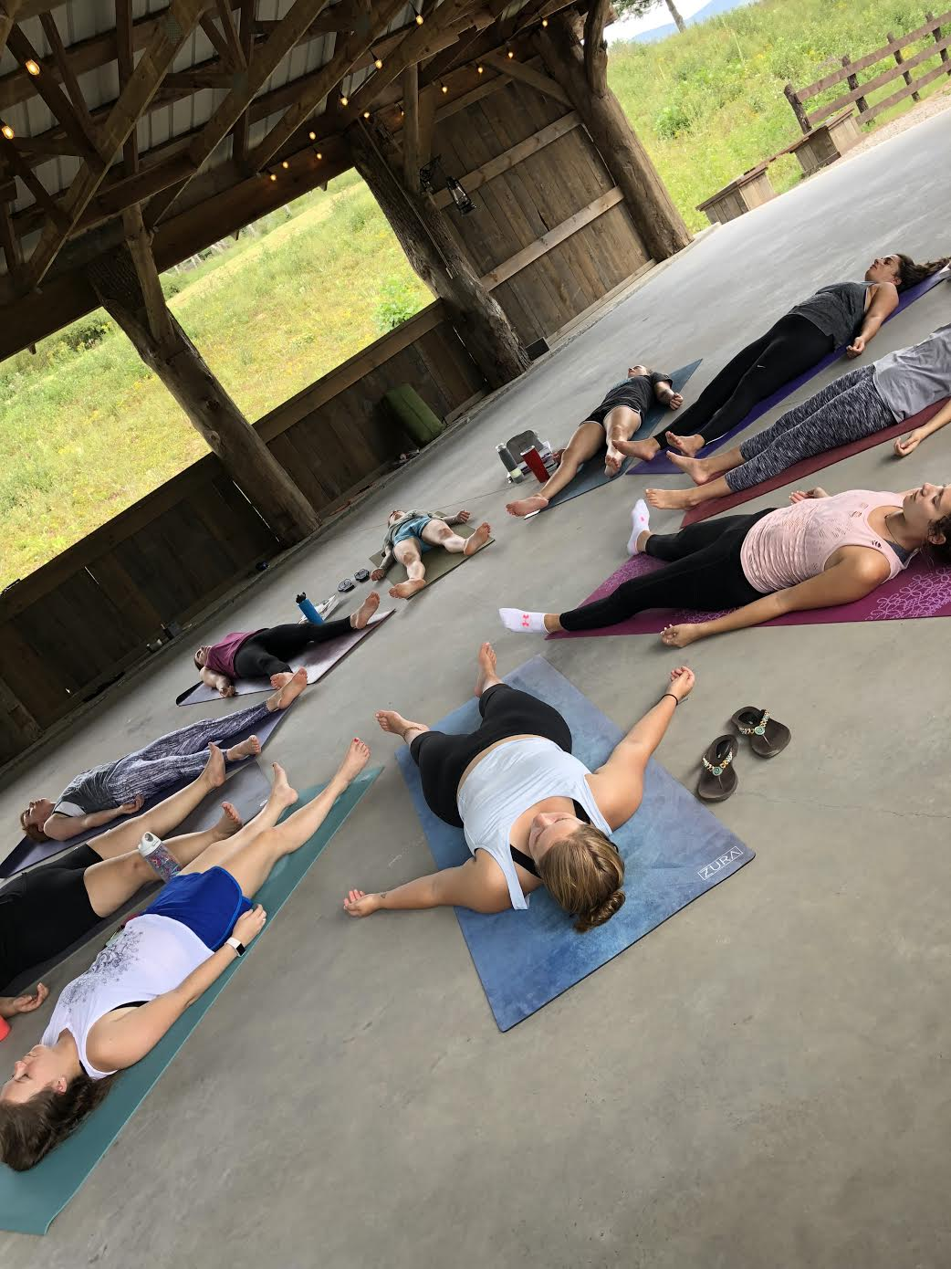 Our students in yoga nidra