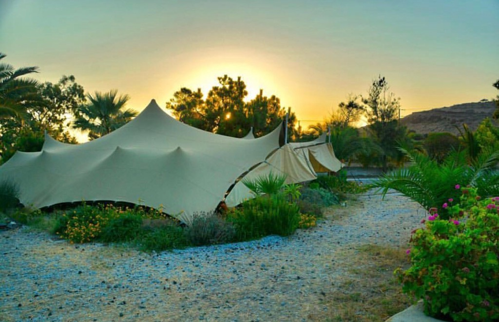 Our tent at sunset