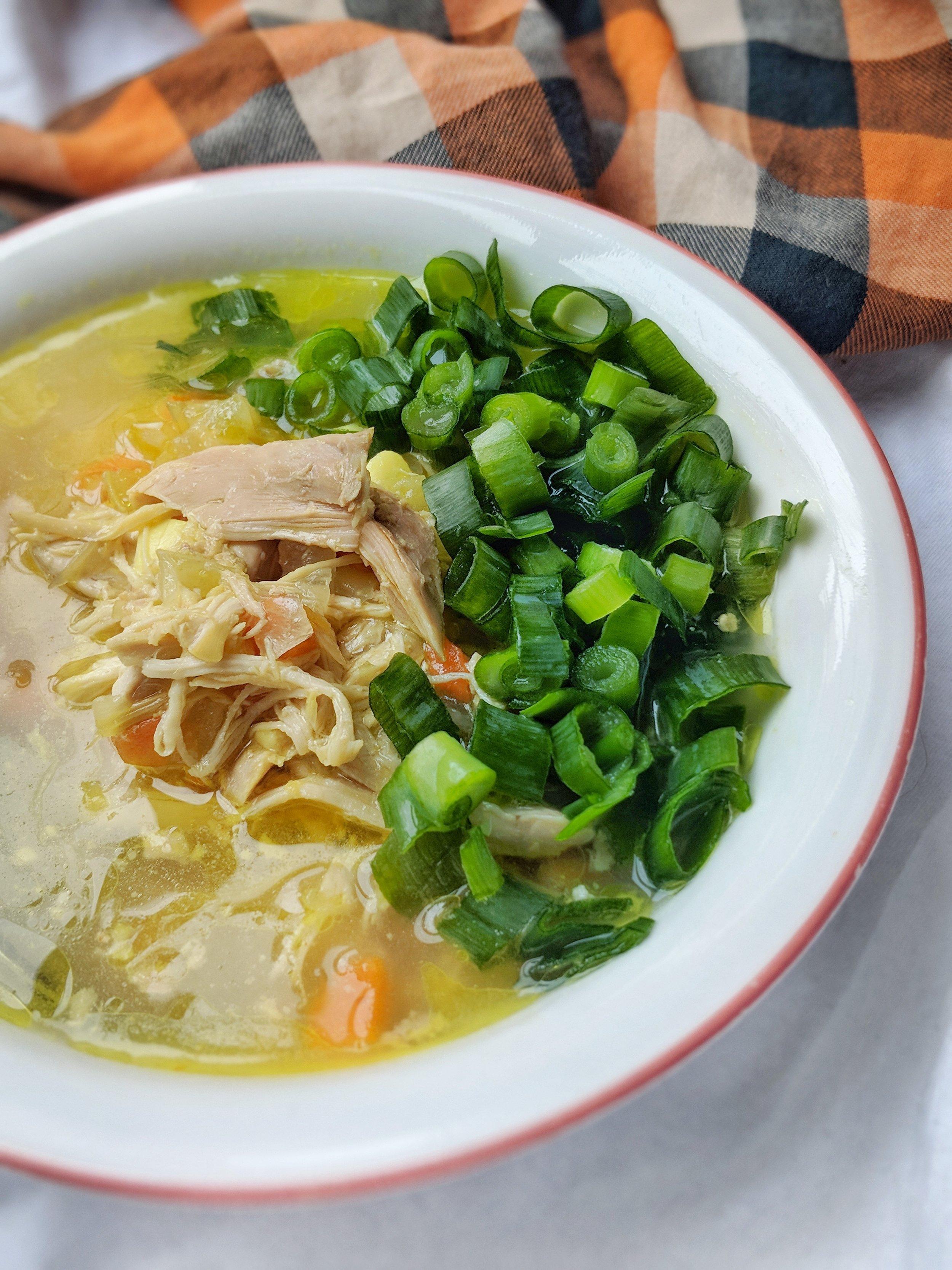 Chicken Vegetable Ginger Soup