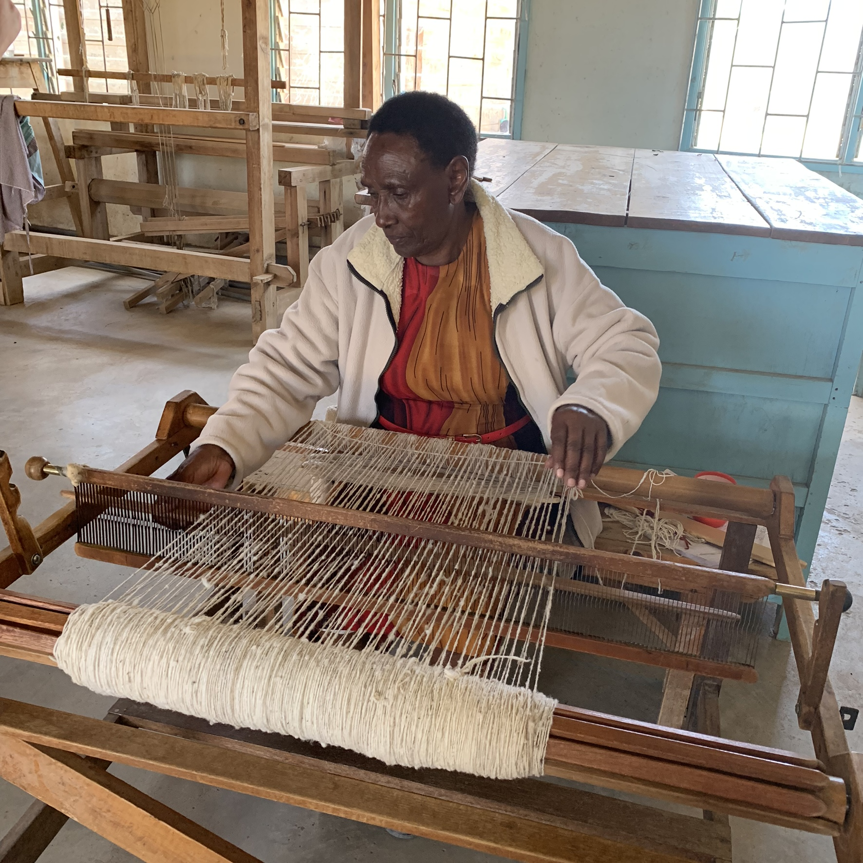 The founder of  Spinners and Weavers , a program that teaches young girls and single mothers a useful trade in order to make money to support herself and her children