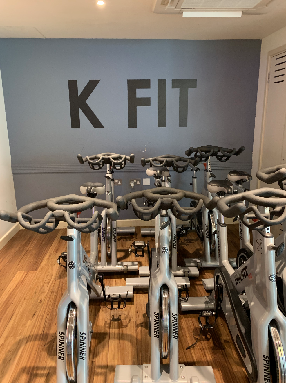 Spinning bikes at K West Hotel and Spa