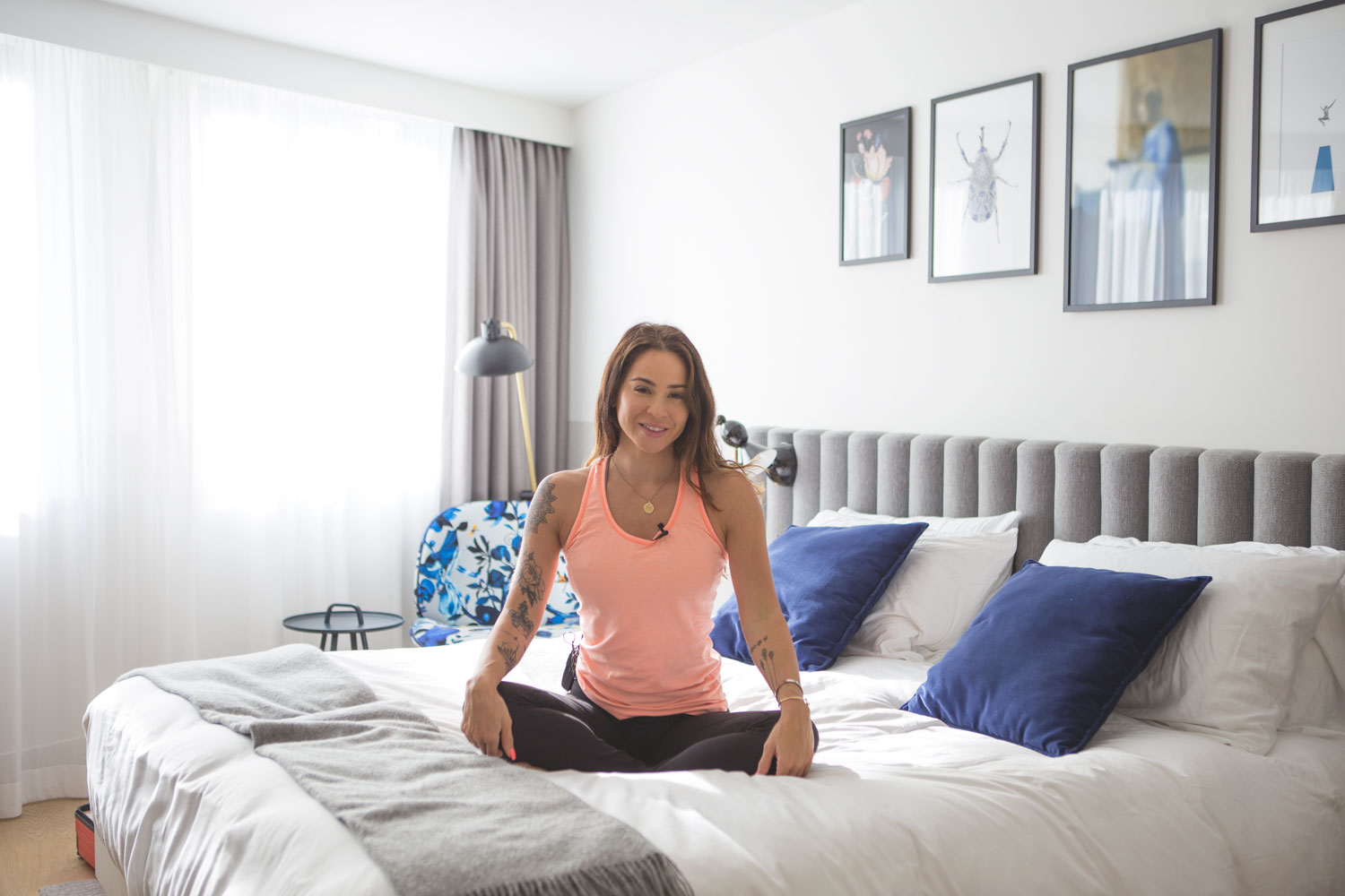 Relaxing Yoga in Bed video