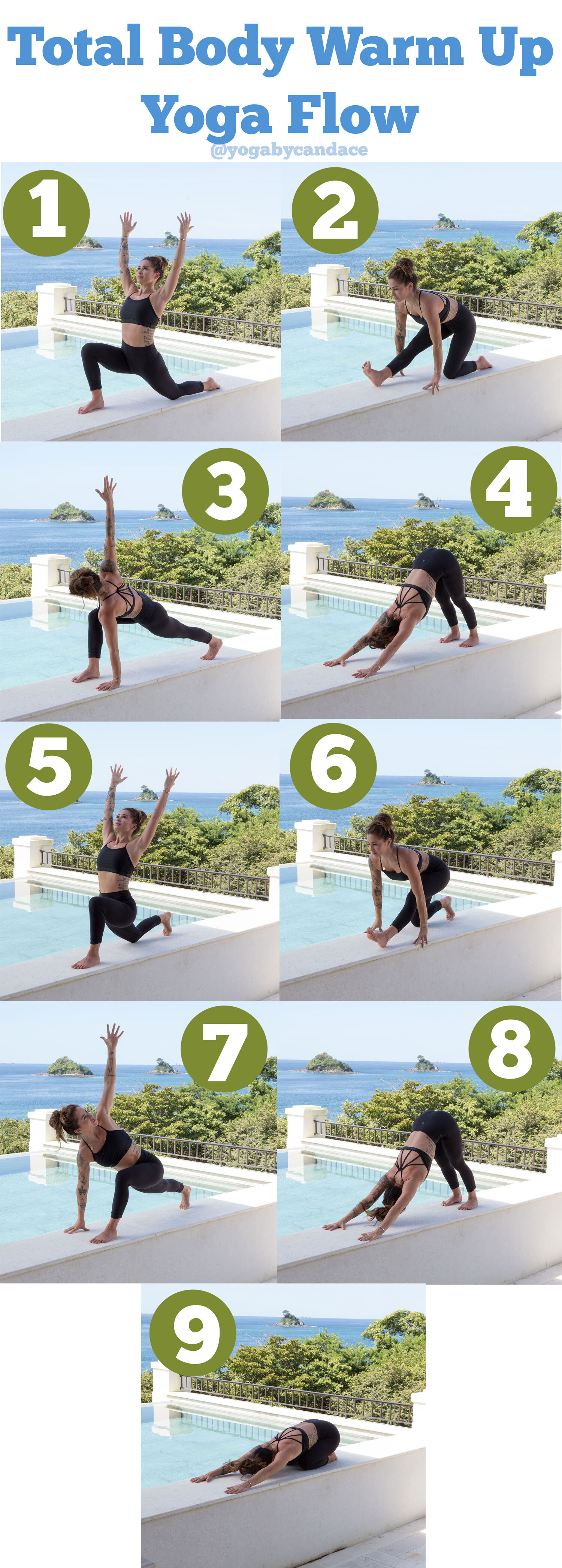 Follow us on Pinterest  and pin this yoga flow image now for practice later on!