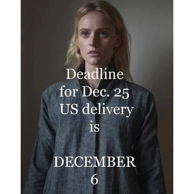 One week! . . #fyi #smallbatch #christmasdeadline #madetoorder #sustainablefashion #organic #madeinseattle #madeinusa #overshirt #womansfashion