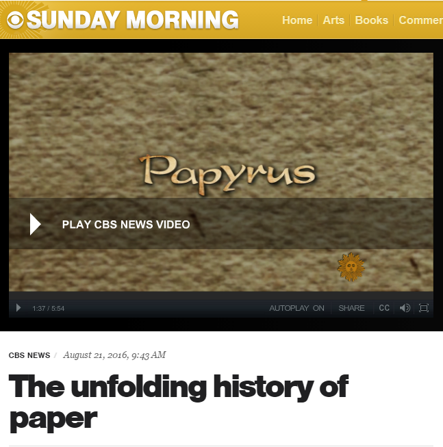 CBS Sunday Morning Paper