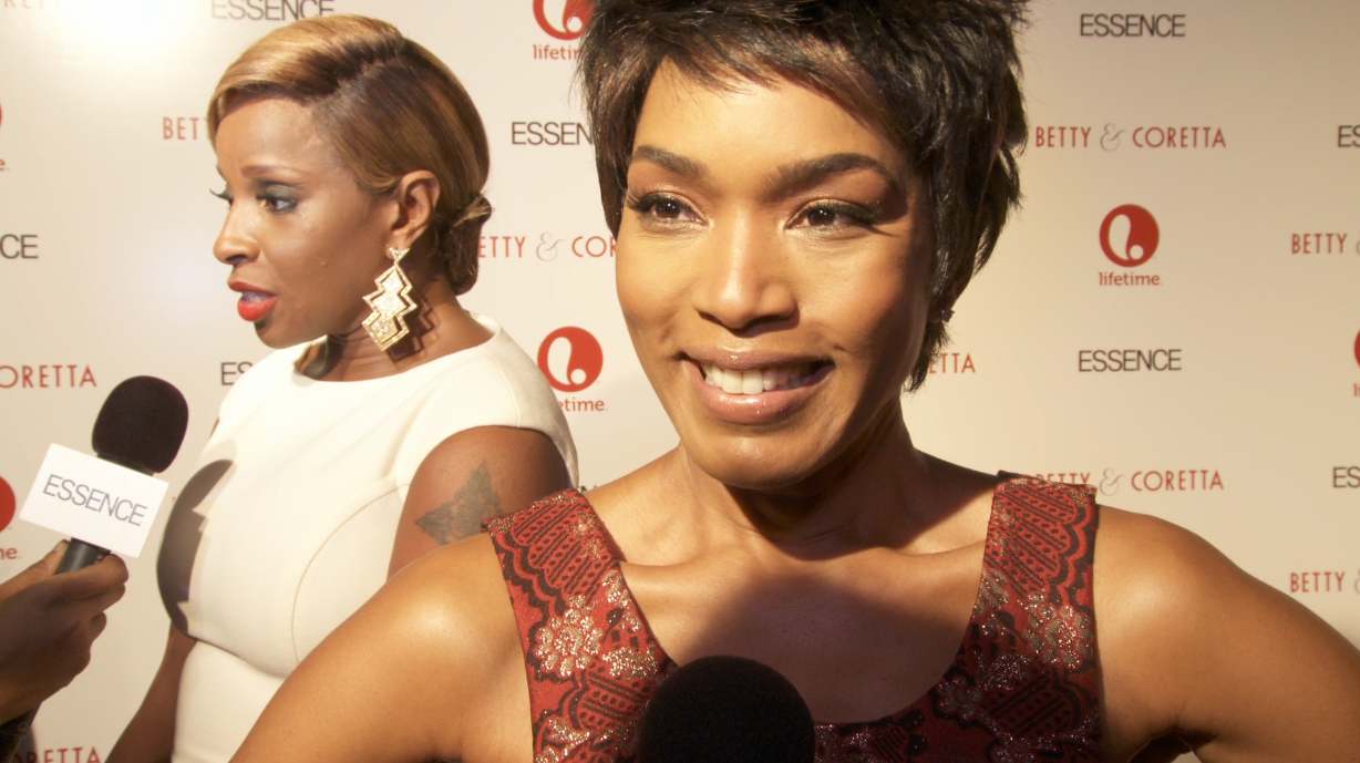 Angela Bassett and Mary J. Blige on the Red Carpet at premiere of Betty & Coretta