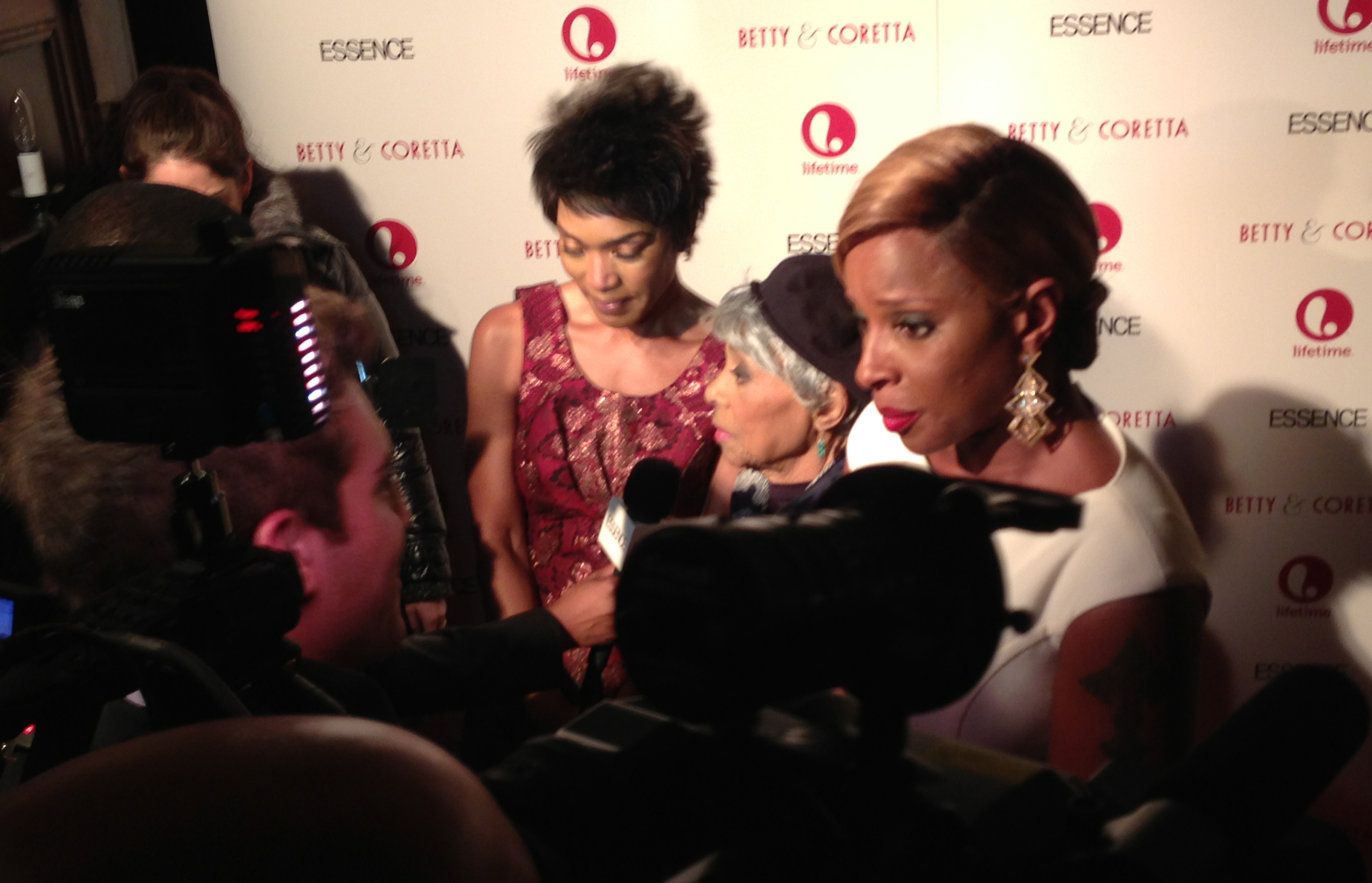 Max Curious Pro shooting red carpet for Lifetime's premiere of Betty & Coretta. Lifetime's Ben Asher doing the interviewing. Anneliese Paull on camera and Dafydd Cooksey on sound.