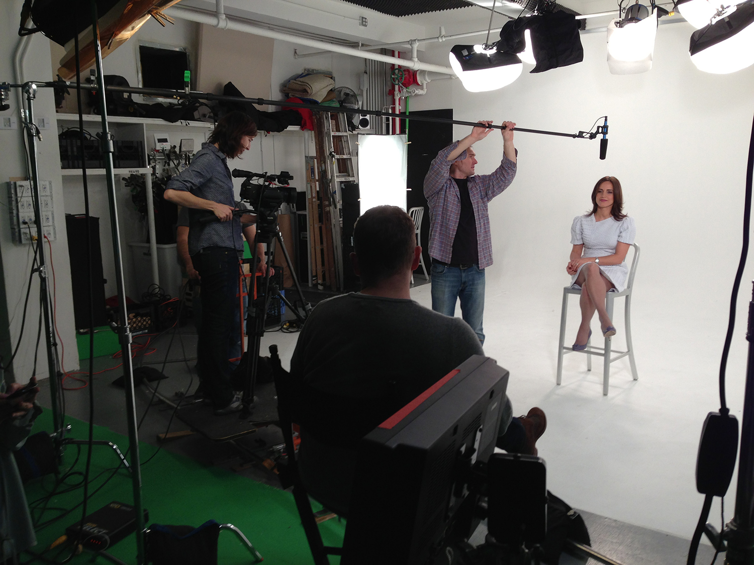 Anneliese on Camera, Dafydd Cooksey on Sound, Charles Chilton in the Director's Chair
