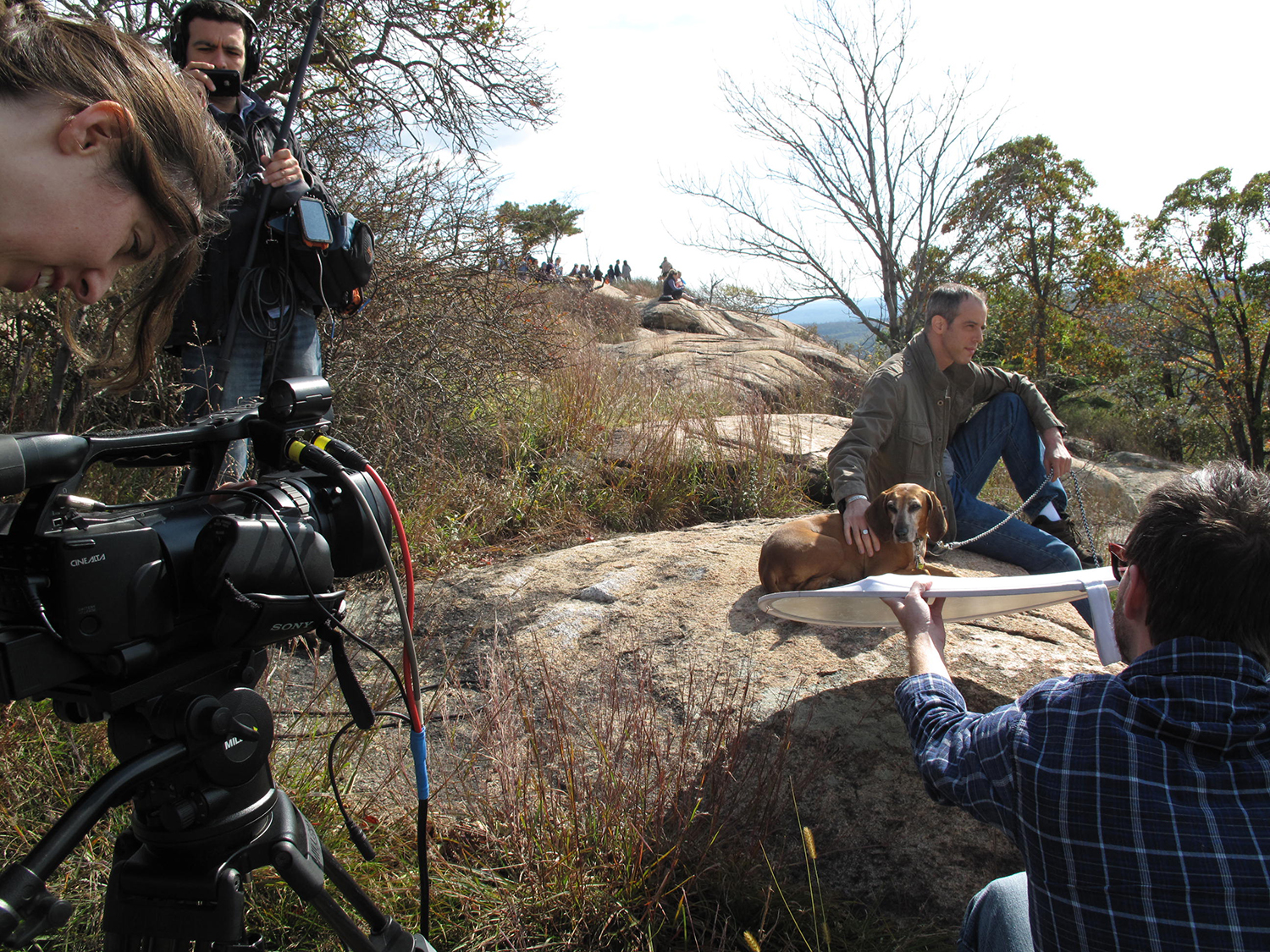 Shooting footage at Bear Mountain, NY with Dan Katz and Ruby.