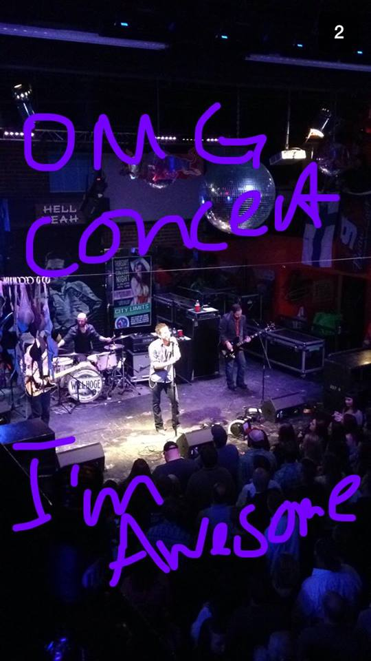 Will Hoge.  Snapchat from Kelly.