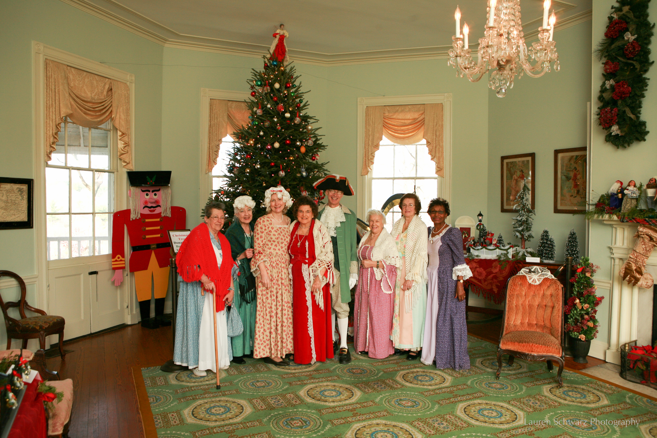 Costumed Interpreters greet guests to Laurel Hill