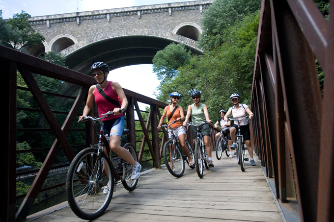 Bring your bike or make use of the bike  rental services in the Fairmount Park system.  (Photo by J. Smith for GPTMC)