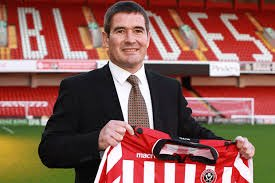 LOOKING THE PART: Nigel Clough at the Lane on day of his appointment