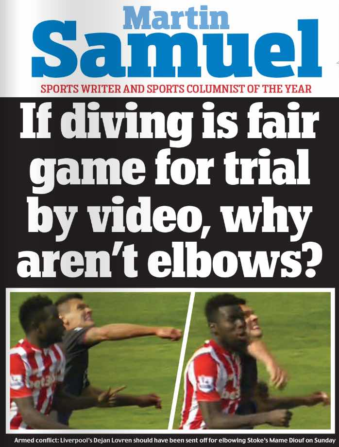 GOOD POINT:  BUT KANGAROO COURT VERDICT ON Sheffield UNITED'S CHRIS MORGAN DOES AUTHOR NO FAVOURS