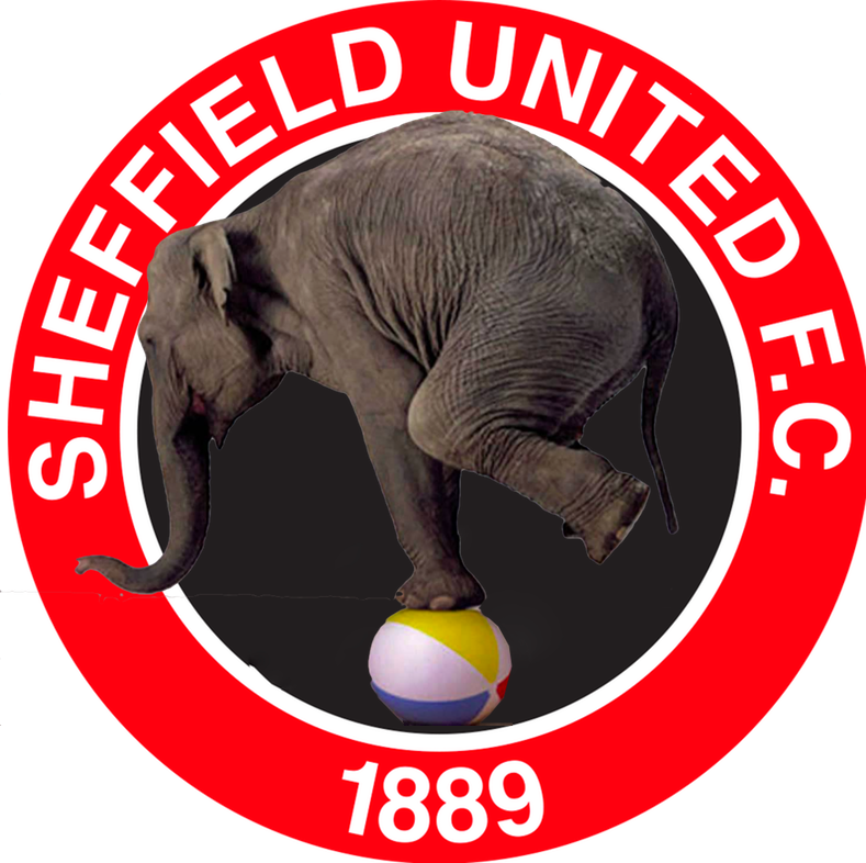 Sheffield United elephant balancing act