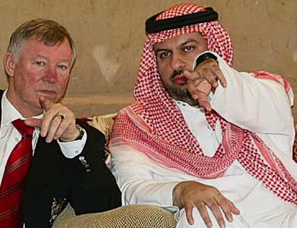 PLAYBOY'S HOBBY:  THE PRINCE ENTERTAINS  SIR ALEX FERGUSON