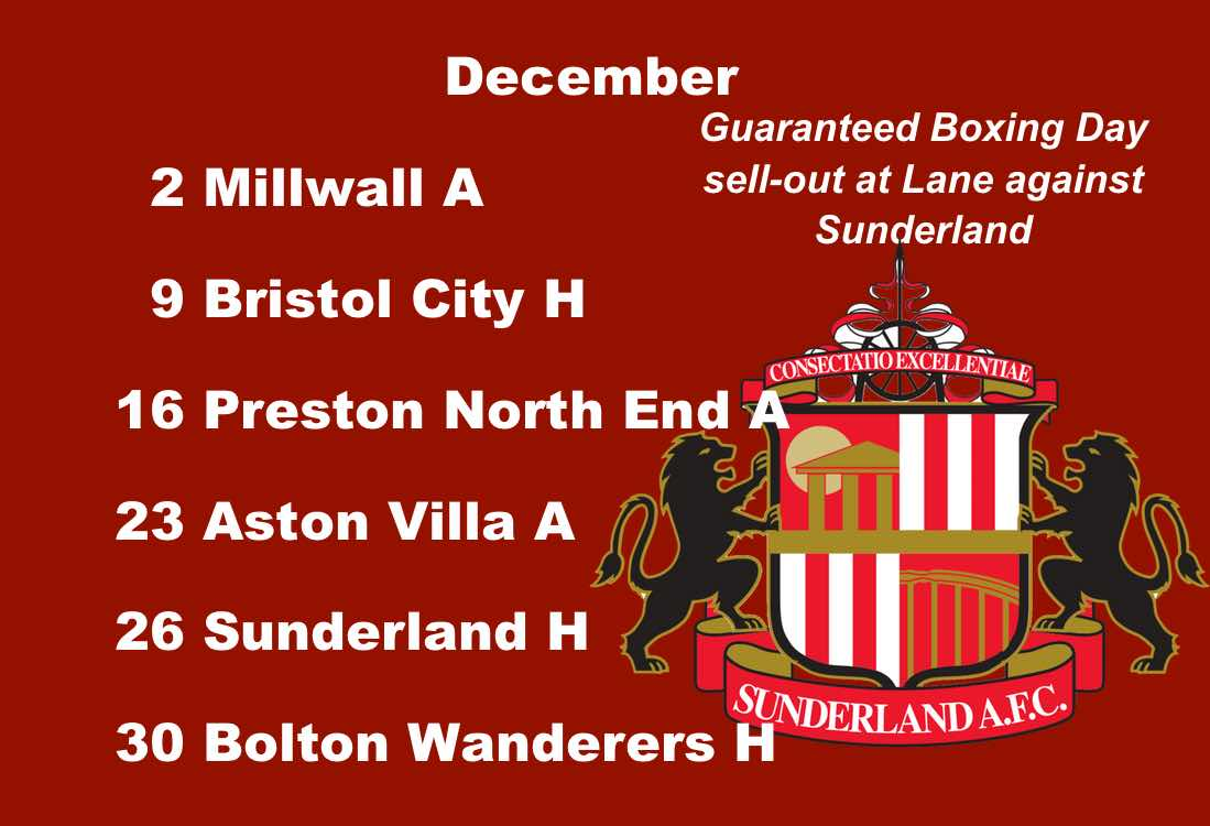 Sheffield United fixtures: Boxing Day thriller in store at Bramall Lane as Sunderland are the visitors