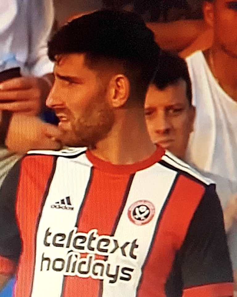 HE'S BACK... - CHED EVANS IN A SHEFFIELD UNITED SHIRT FOR THE FIRST TIME SINCE 2012.