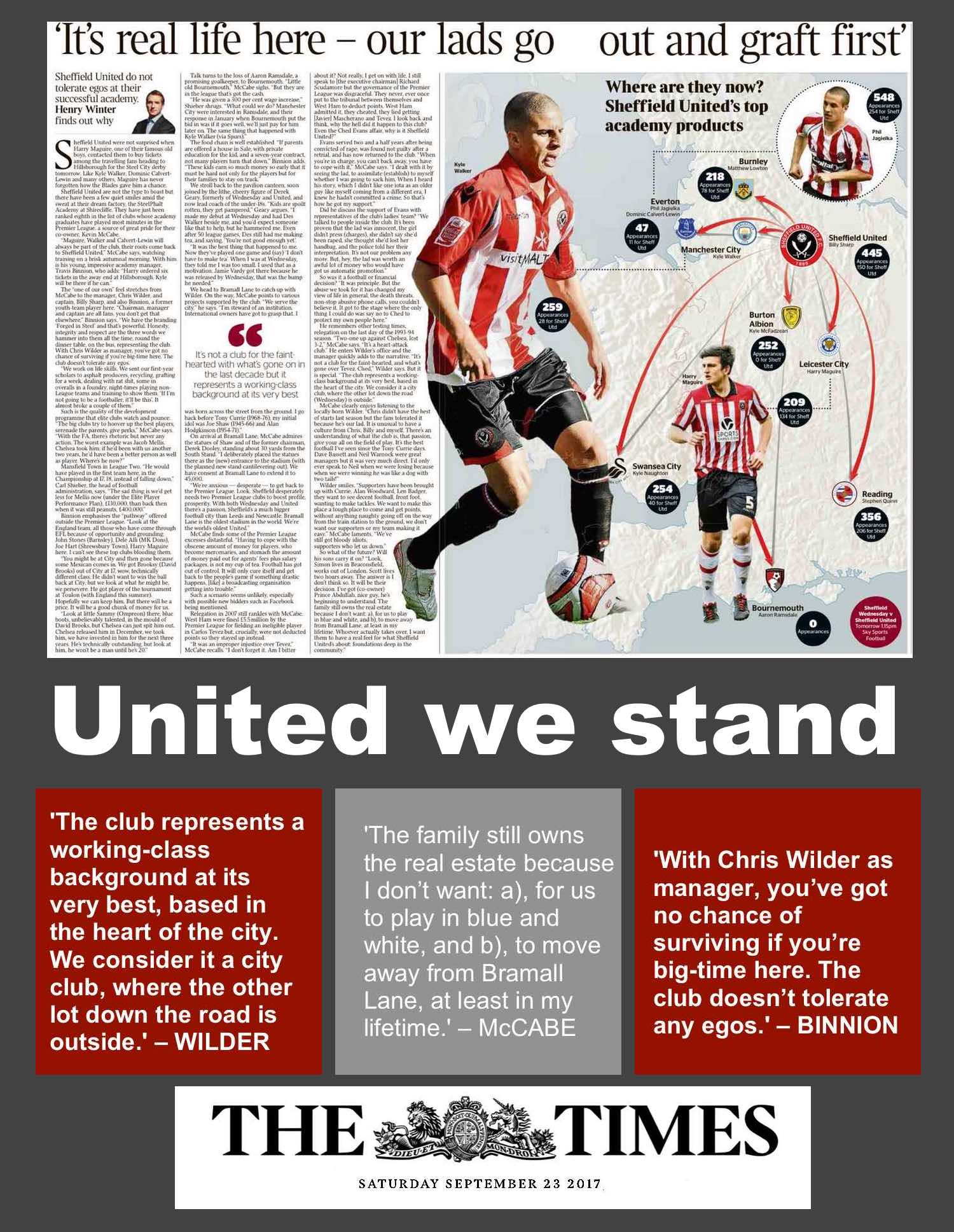 The Times' Chief Football Writer Henry Winter on a revealing visit to the Blades