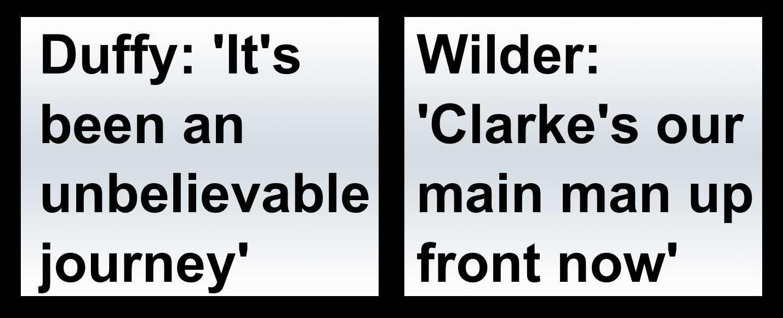 Sheffield United's outstanding stars Leon Clarke and Mark Duffy