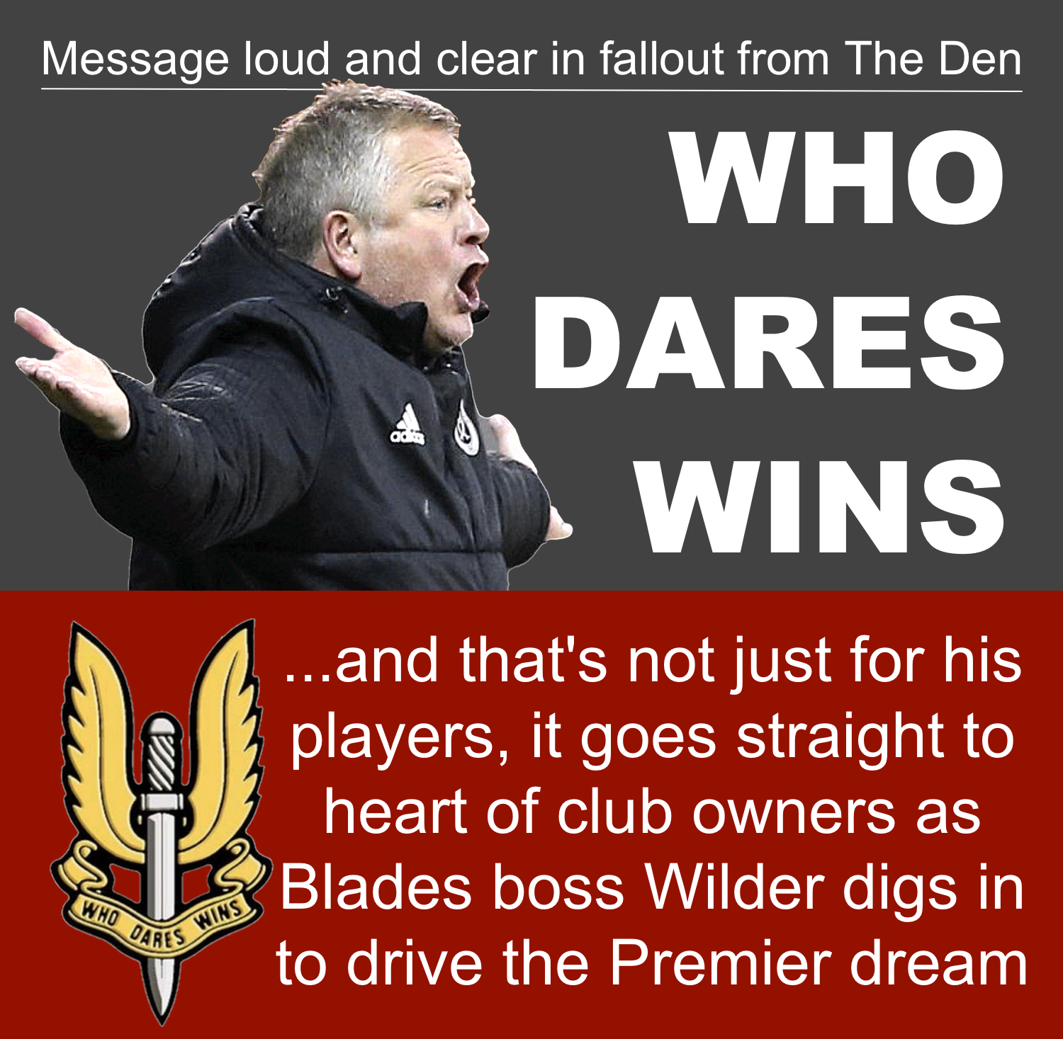 Furious Sheffield United boss Chris Wilder driving Blades Premier dream in fallout from latest crash at The Den