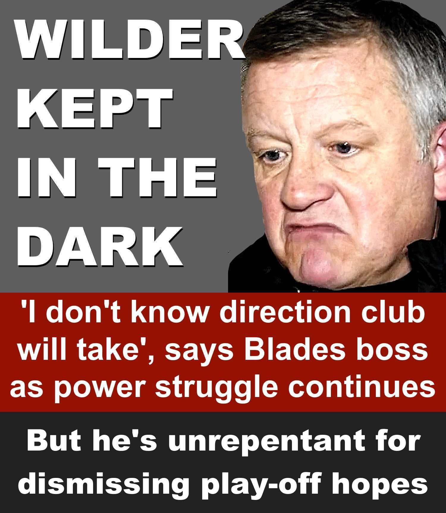 Sheffield United boss kept in dark in Bramall Lane power struggle