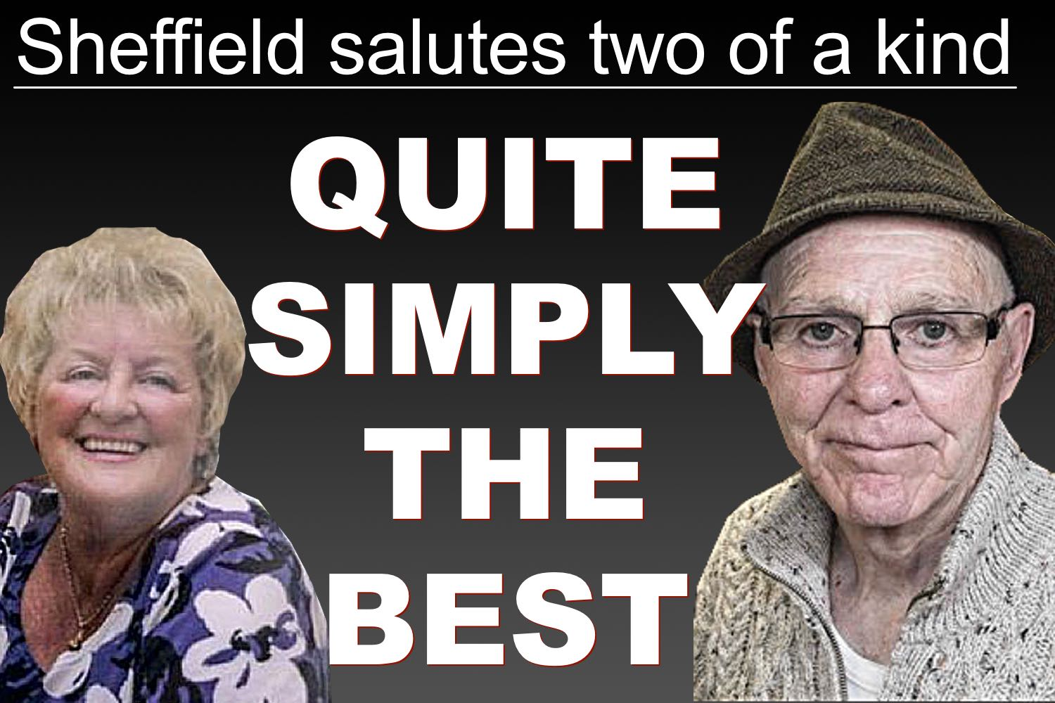 Blades fan Barbara Wragg and boxing legend Brendan Ingle quite simply the best