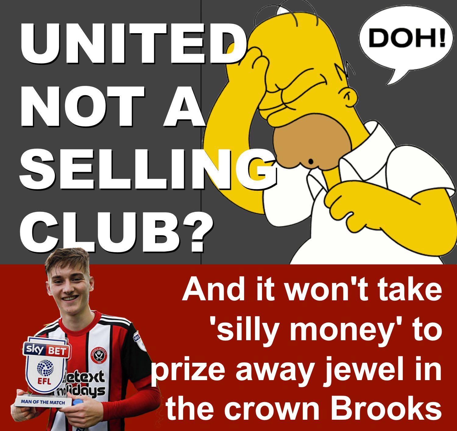 Blades boss Chris Wilder claims Sheffield United is no longer a selling club. Good luck with that.