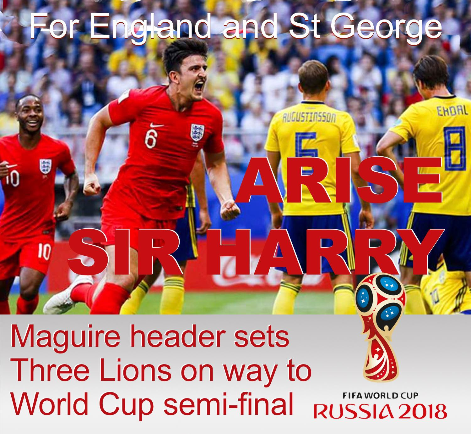 Harry Magure, former Blade and lifelong Sheffield United fan, set England on the way to the World Cup semi-finals in Russia with the first of the Three Lions' goals in a 2-0 win against Sweden