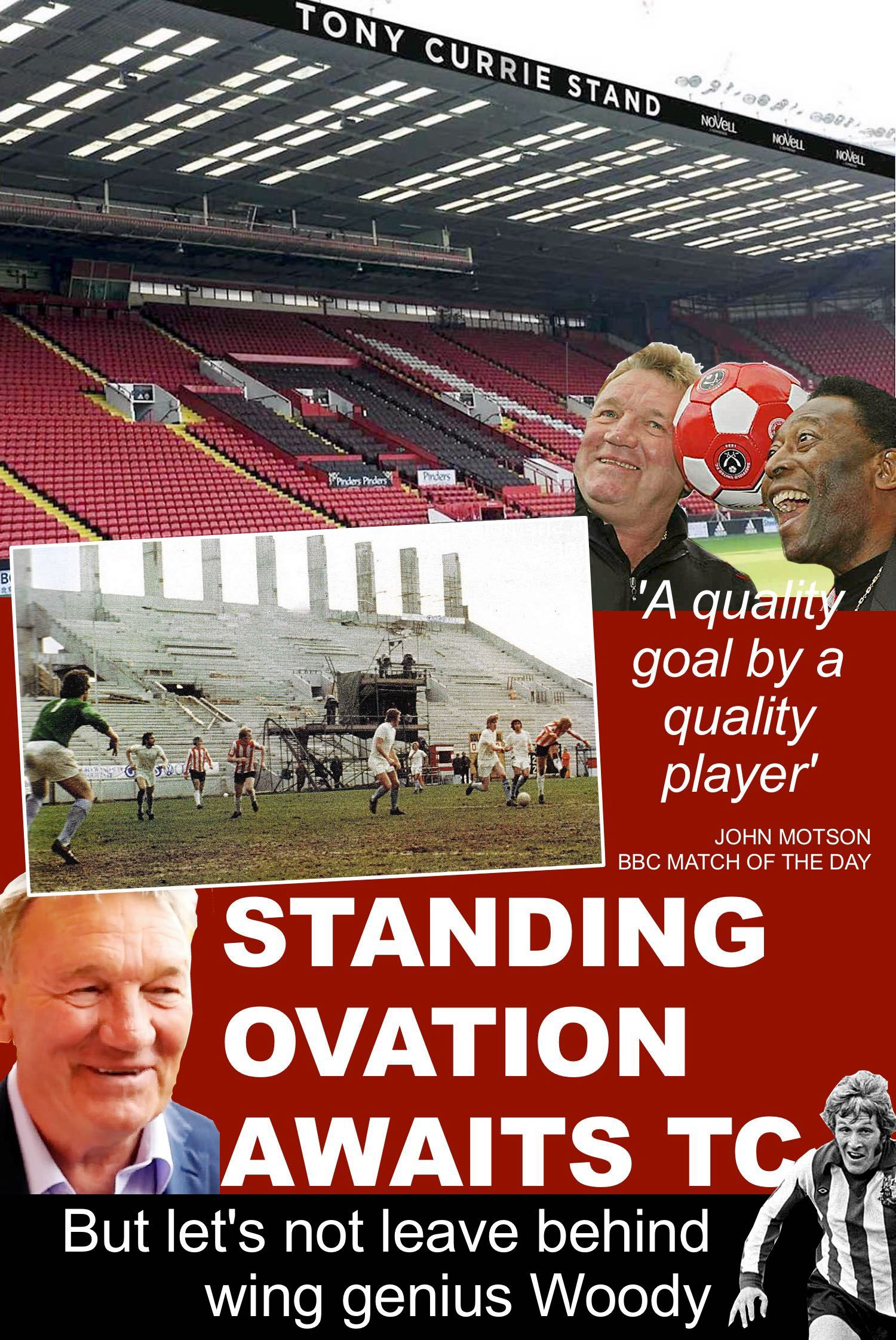 Sheffield United living legend Tony Currie has had a stand named after him at Bramall Lane, unveiled for the visit of Italian giants Internazionale. But have the Blades overlooked another United great, Alan Woodward?