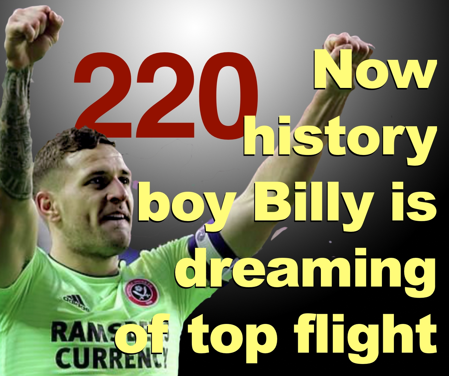 Billy Sharp is dreaming of top flight football with Sheffield United after becoming the 21st century's highest English league goalscorer with 220.