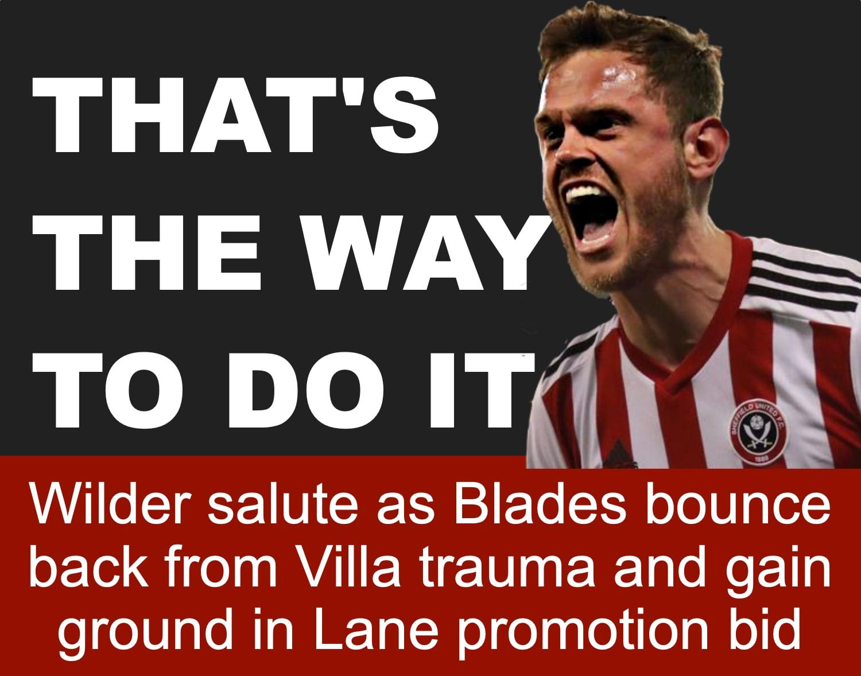 Sub Stearman helps Sheffield United bounce back from Villa trauma to gain ground in promotion bid