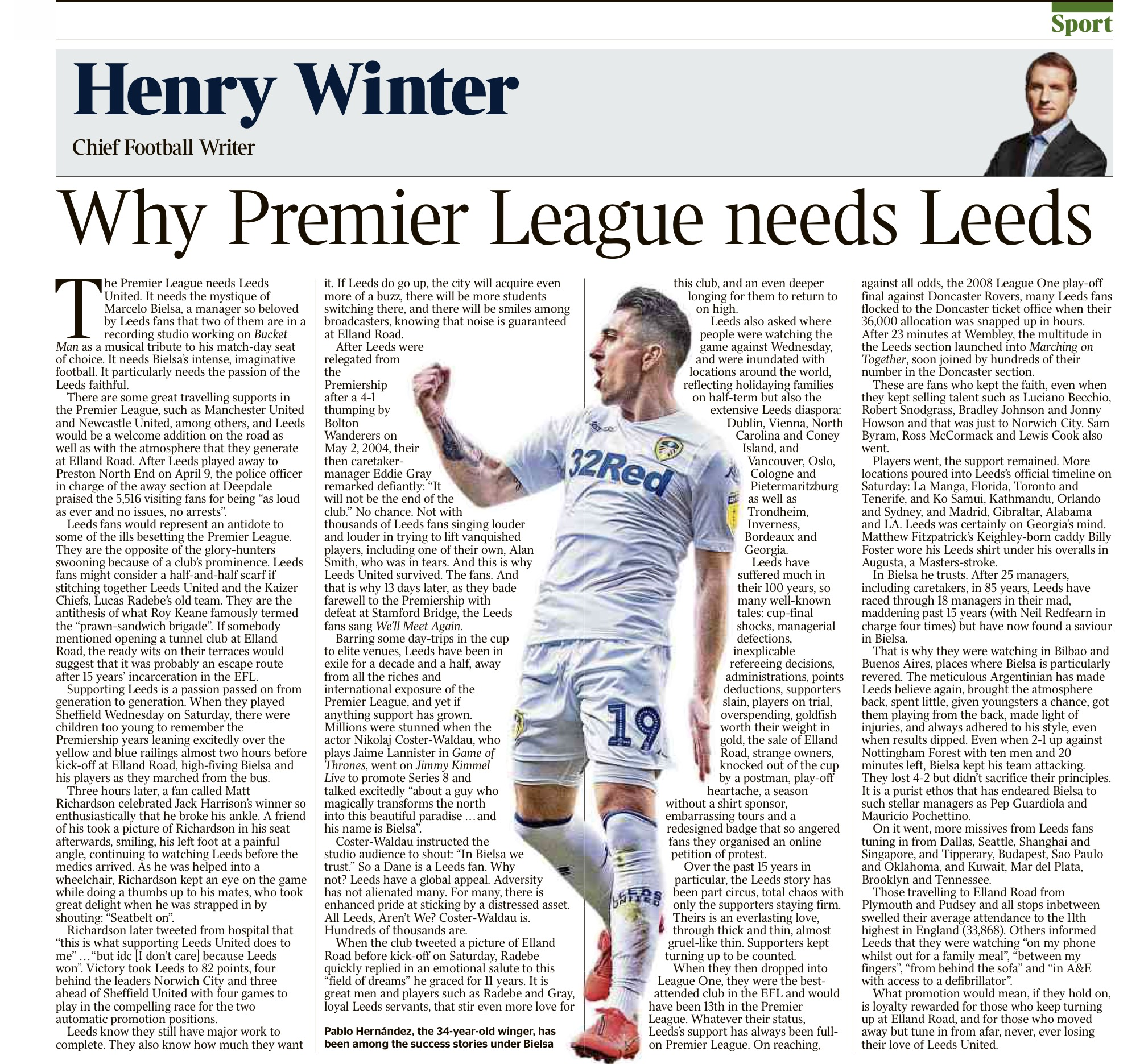 Henry Winter writing in The Times