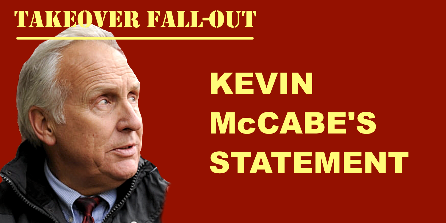 Kevin McCabe's statement to Sheffield United fans after High Court defeat.