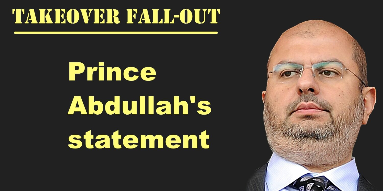 Prince Abdullah's statement after High Court victory.