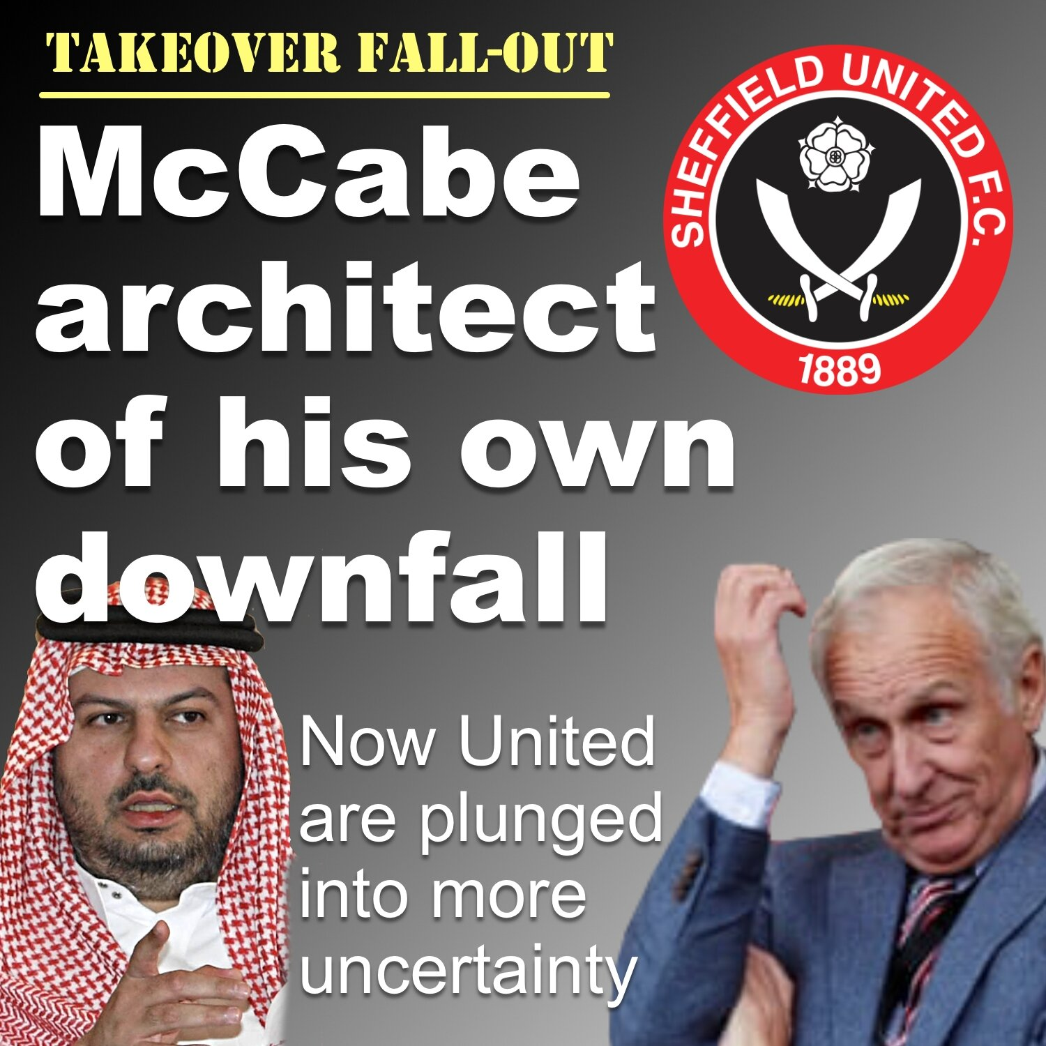 Kevin McCabe architect of his own downfall at Sheffield United.
