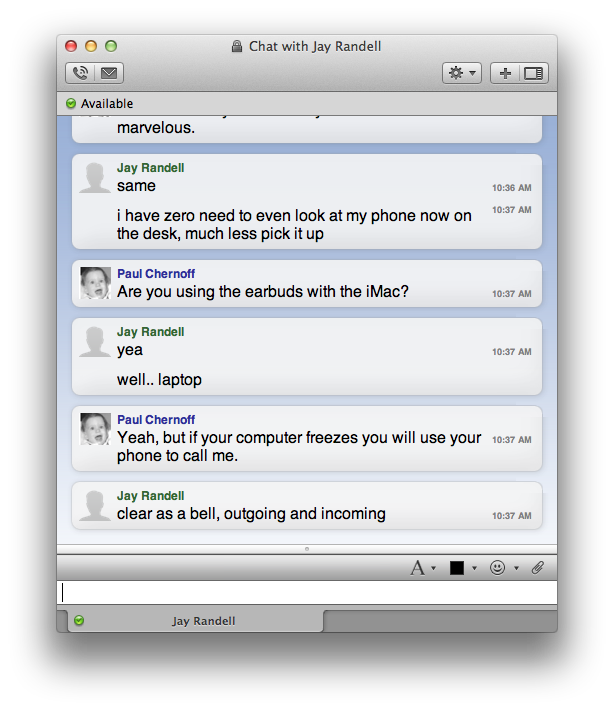 Cisco Jabber for Mac — paulchernoff com
