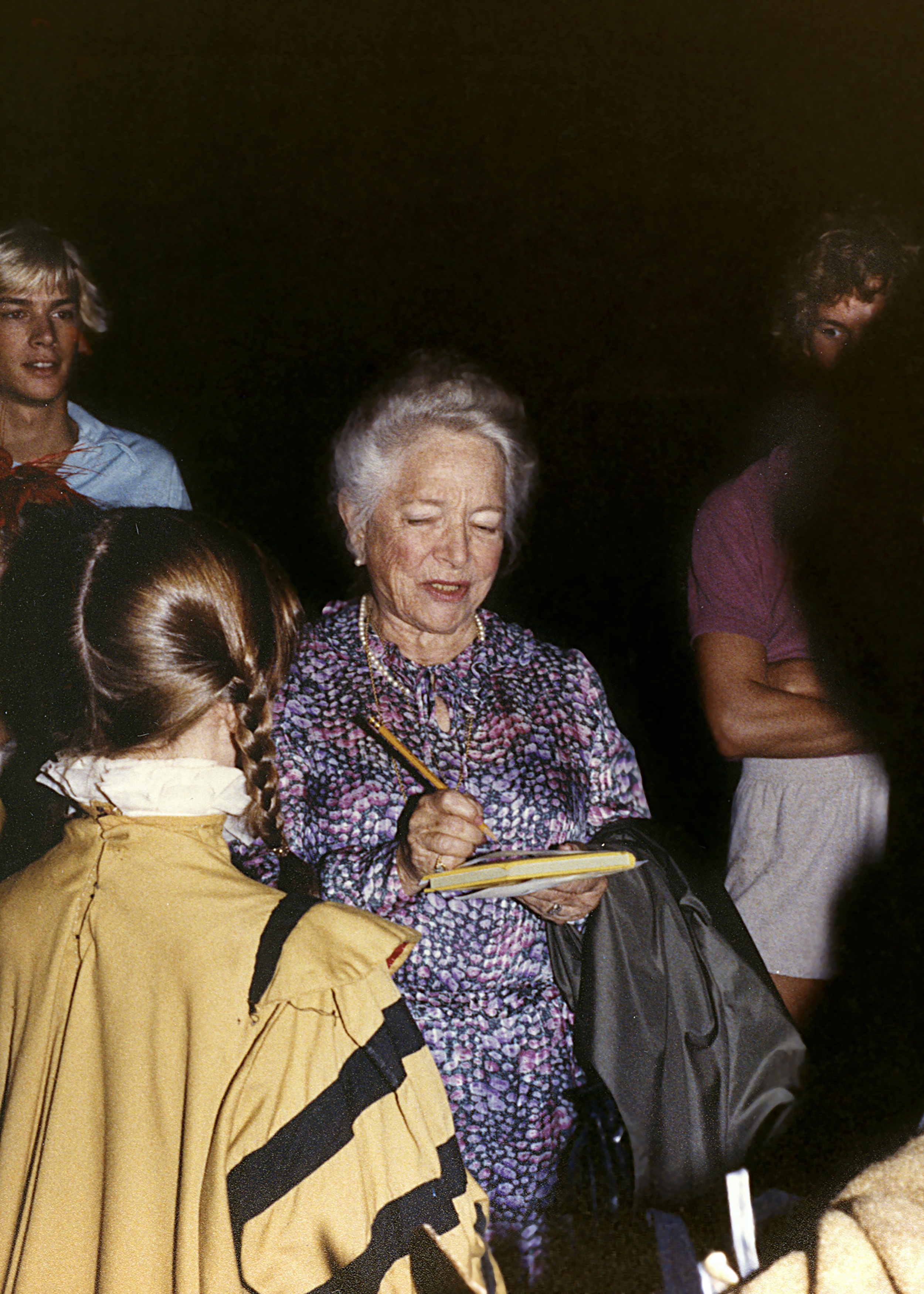 "1981 ""The Lost Colony"" - backstage Waterside Theater with Helen Hayes"