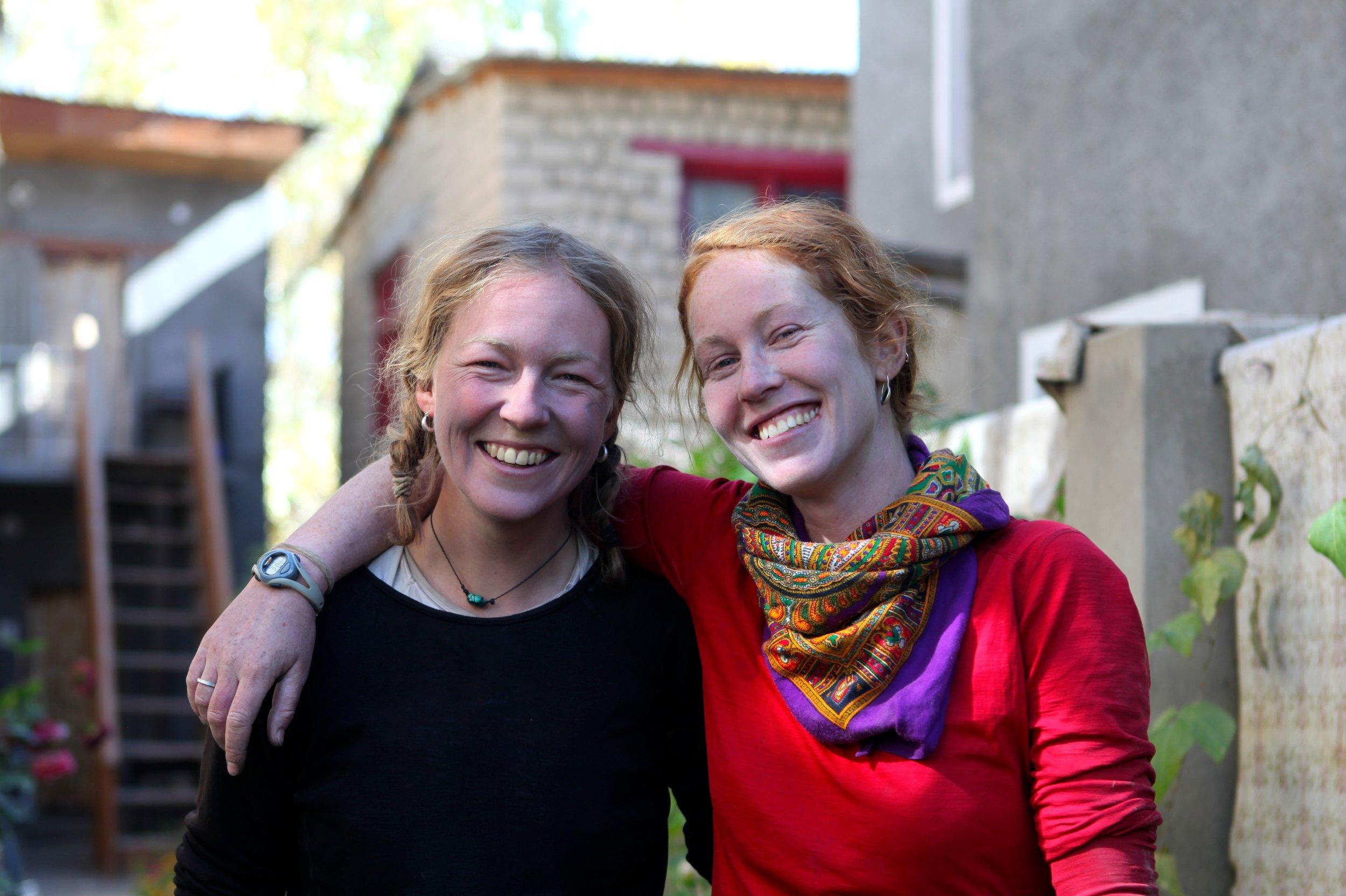 Mel Yule and Kate Harris finished biking the Silk Road